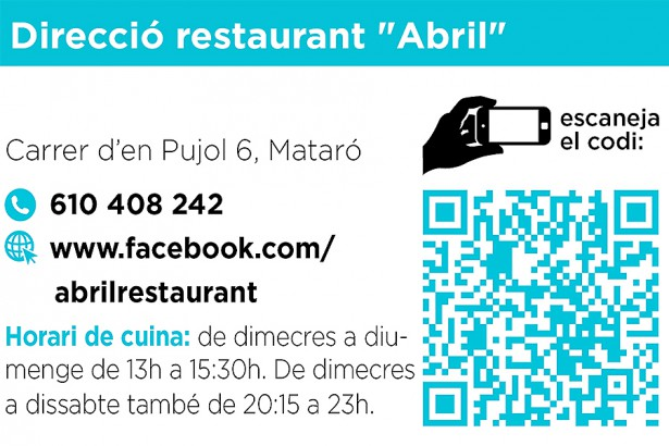 Instagram Tot a taula, restaurant abril